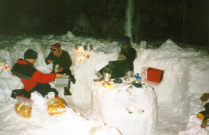 Snow camping mess hall